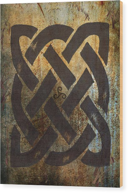 The Dara Celtic Symbol Wood Print