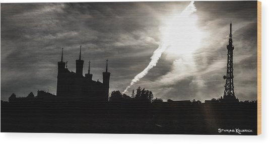 Wood Print featuring the photograph The Dark Towers by Stwayne Keubrick