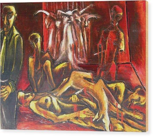 The Death Room Wood Print