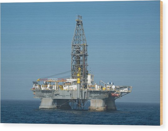 The Deepwater Horizon Wood Print