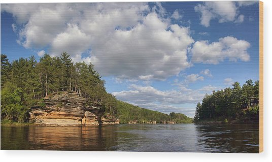 The Dells Of The Wisconsin River Wood Print