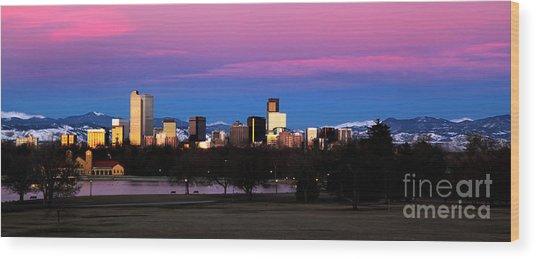 The Denver Skyline Wood Print