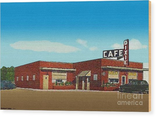 The Dixie Cafe In Selmer Tn Around 1950 Wood Print