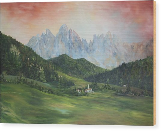 The Dolomites Italy Wood Print