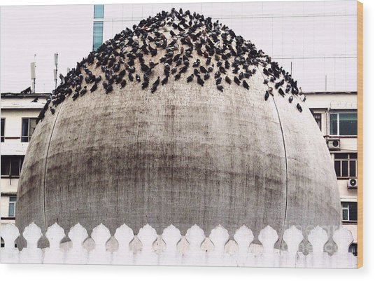 The Dome Of The Mosque Wood Print