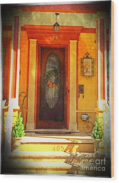 The Door 1 Wood Print by Becky Lupe