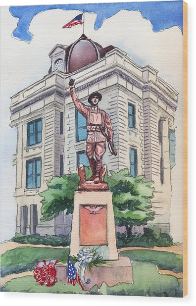 The Doughboy Statue Wood Print