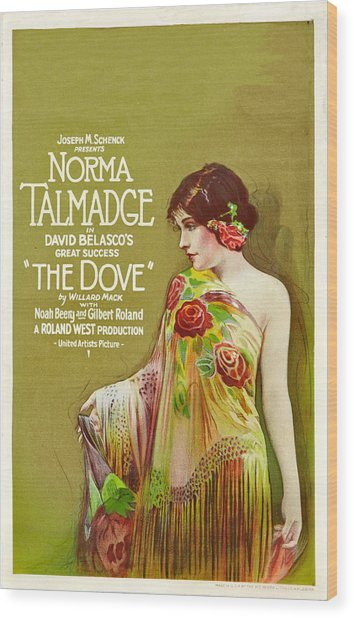 The Dove, Norma Talmadge On Window Wood Print by Everett