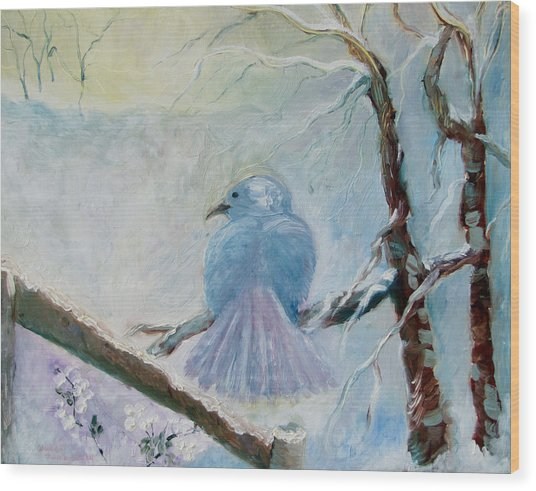 The Dove Wood Print by Susan Hanlon