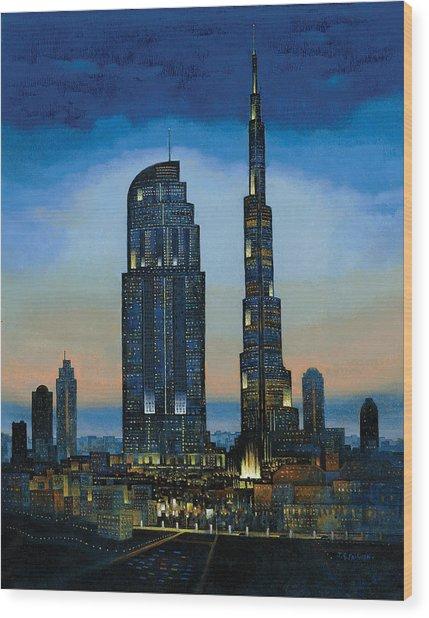 The Dream City Wood Print