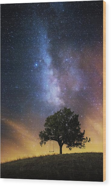 The Dreamer's Seat Wood Print