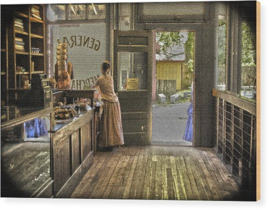 The Dry Goods Store Wood Print
