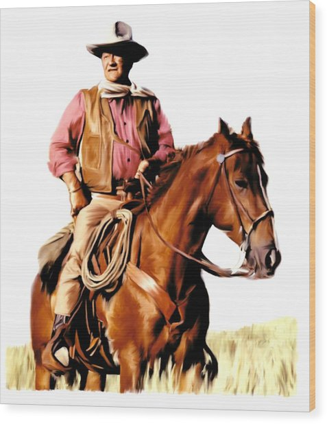 The Duke  John Wayne Wood Print