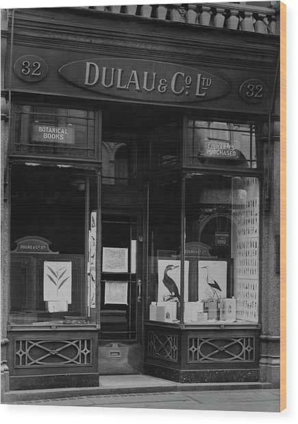 The Dulau & Co. Book Store Wood Print