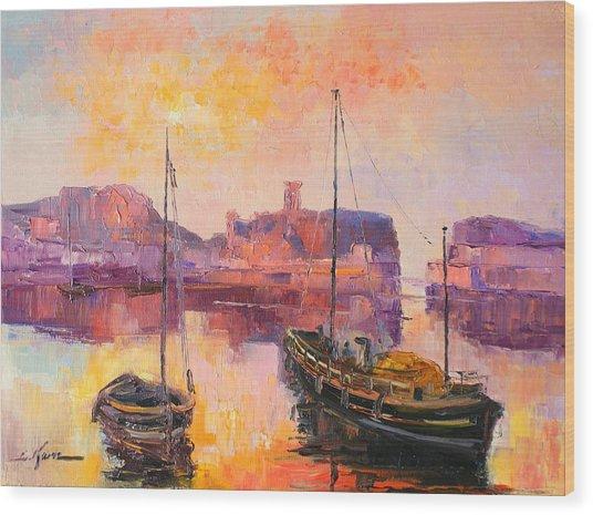 The Dunbar Harbour Wood Print