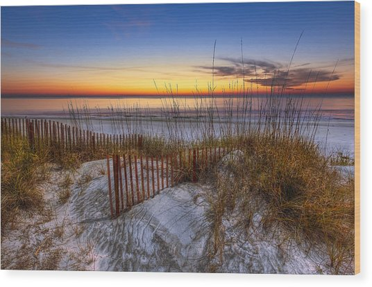 The Dunes At Sunset Wood Print