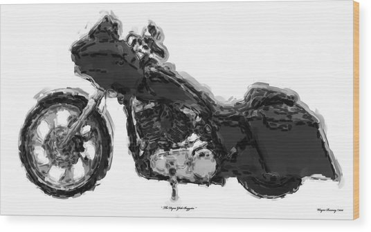The Dyna-glide Baggster Wood Print