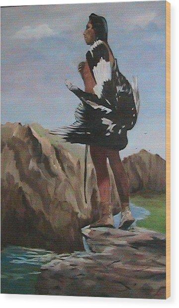 The Eagle Hunter Wood Print