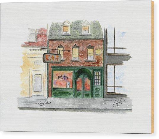 The Ear Inn Wood Print