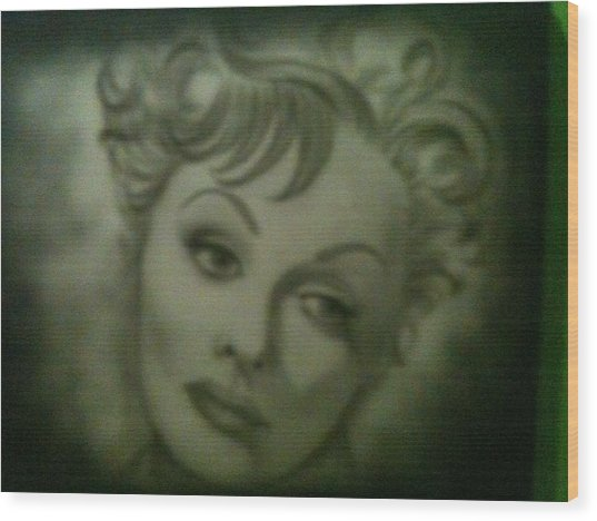 The Early Years Of Lucille Ball Wood Print