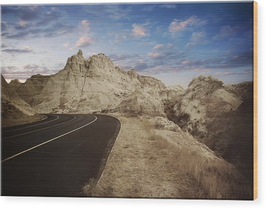 The Edge Of The Badlands Wood Print by Jens Larsen
