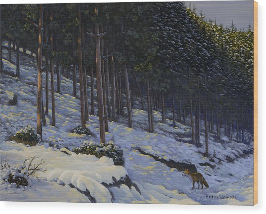 The Edge Of The Forest Wood Print