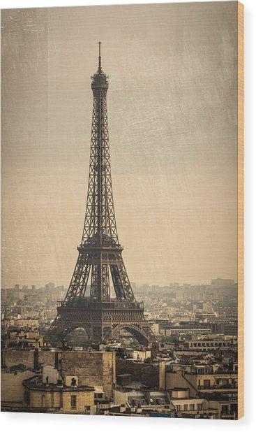 The Eiffel Tower In Paris France Wood Print