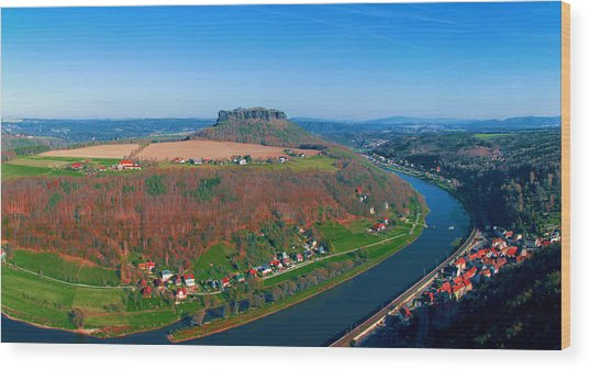 The Elbe Around The Lilienstein Wood Print