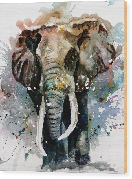 The Elephant Wood Print