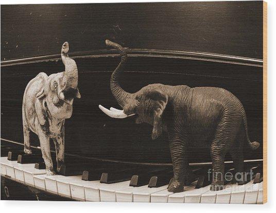 The Elephant Walk Wood Print