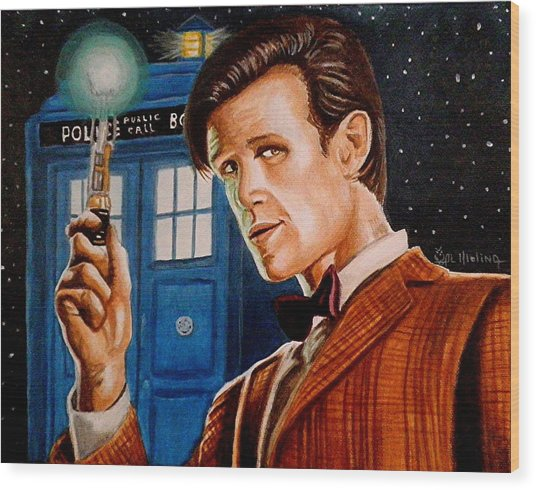 The Eleventh Doctor Wood Print
