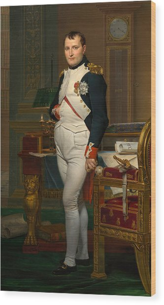 The Emperor Napoleon In His Study At The Tuileries Wood Print