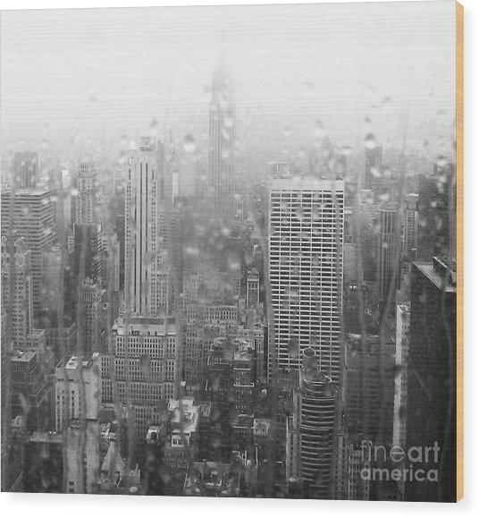 The Empire In The Rain Wood Print by Alice Gardoni