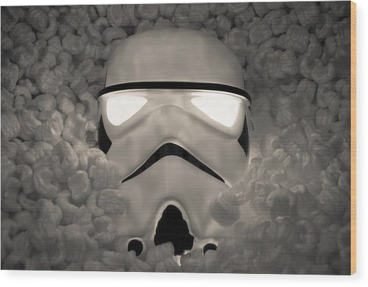 The Empire Pays Peanuts Wood Print by Randy Turnbow