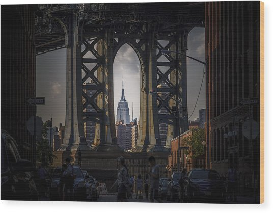 The Empire State  Wood Print