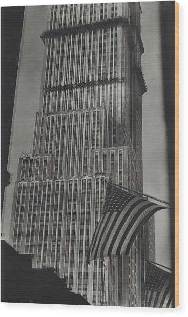 The Empire State Building In New York City Wood Print by Sherril Schell