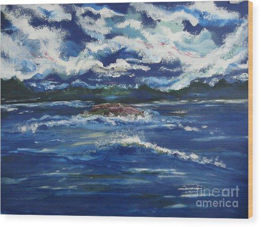 The Enchanting Sea  Wood Print