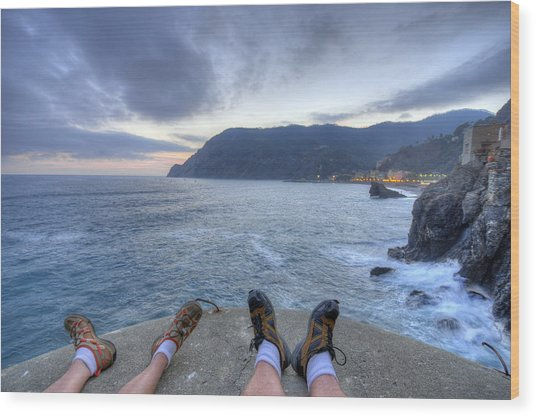 The End Of The Day In Monterosso Wood Print