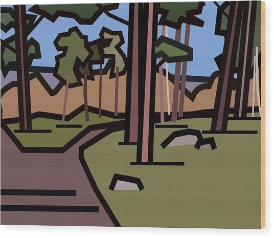 The Entrance To The Wood. Wood Print by Kenneth North