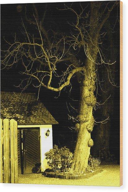 The Escape Door Wood Print by Sharon Costa