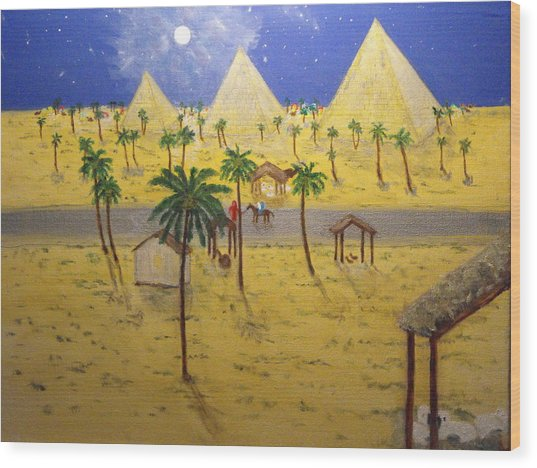 The Escape To Egypt Wood Print