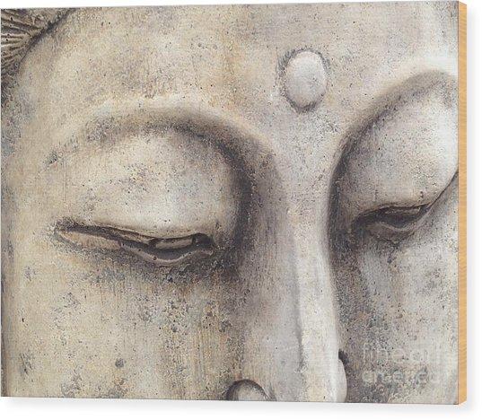 The Eyes Of Buddah Wood Print