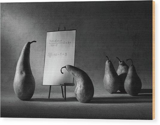 The F-mark Wood Print
