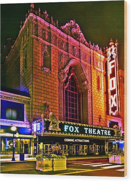 The Fabulous Fox In St. Louis Wood Print