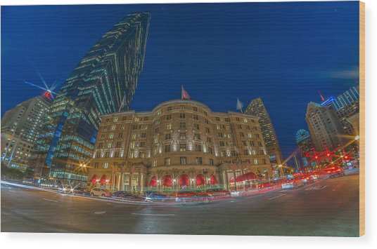 The Fairmont Copley Hotel Wood Print