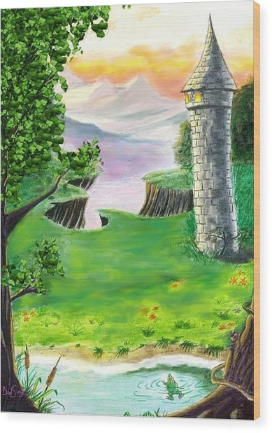 The Fairy Tale Tower Wood Print by Brad Simpson