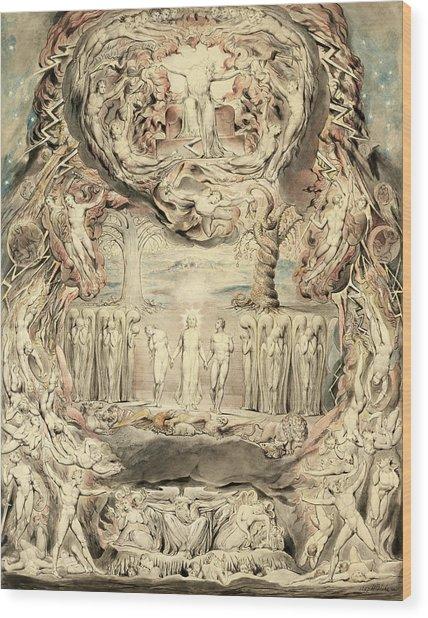 The Fall Of Man Wood Print