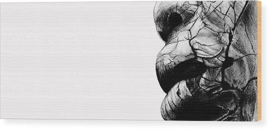 The Falling Away Wood Print