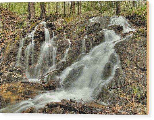 The Falls At Mackenzie King Estate Wood Print