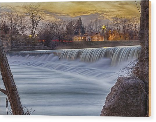 The Falls Of White River Wood Print